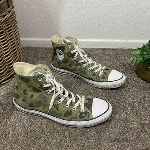 Vintage Early 80's Converse All Star Camo High Top Tennis Shoe Mens Size 13